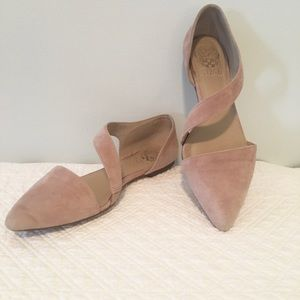 Vince Camuto Pink Blush Suede Flats Size 6 1/2M